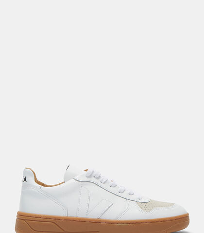 V-10 Bastille Mid-Top Leather Sneakers by Veja