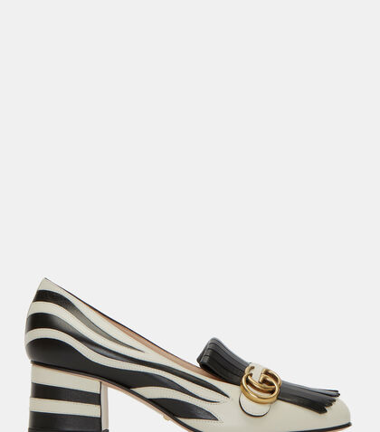 Heeled Zebra Loafers by Gucci