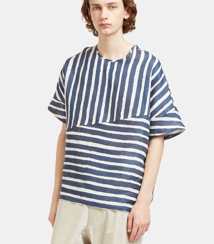 Collection Oversized Stripe T-Shirt by E.Tautz