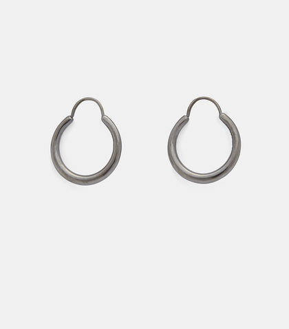 Hungry Snake Ruthenium Polished Earrings by All Blues