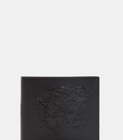 Tiger Embossed Bi Fold Wallet by Gucci