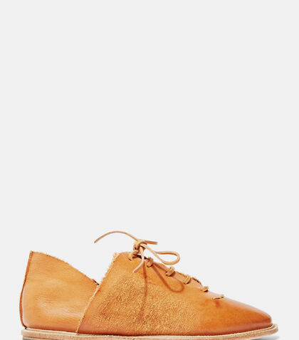 Waxed Leather Lace-Up Shoes by Petrucha Studio