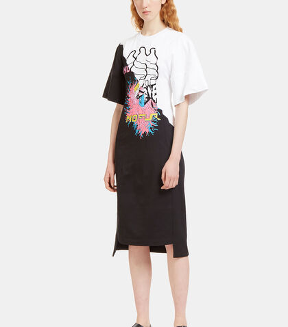 Stitched Printed Panel Jersey Dress by Stella McCartney