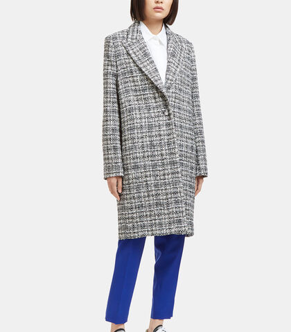 Mid-Length Single-Breasted Tweed Coat by Lanvin