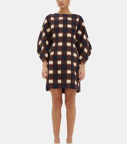 Oversized Wool Checked Dress by Marni