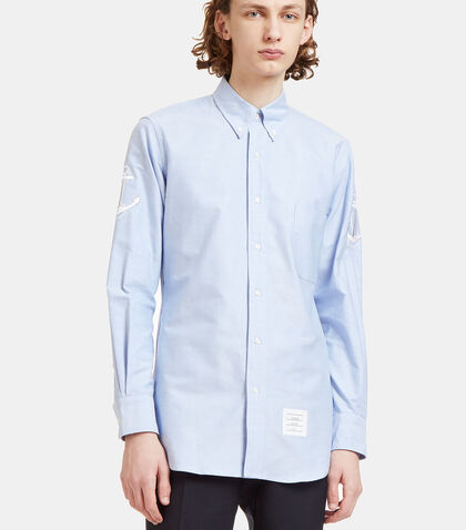 Anchor Embroidered Oxford Shirt by Thom Browne