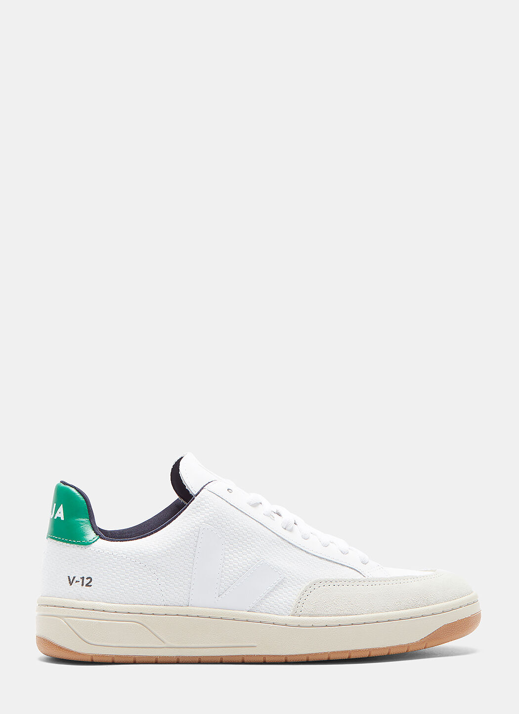 Veja V12 Woven Mesh Panelled Low-Top Sneakers