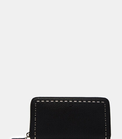 Romano Stapled Grained Leather Zipped Wallet by Fendi