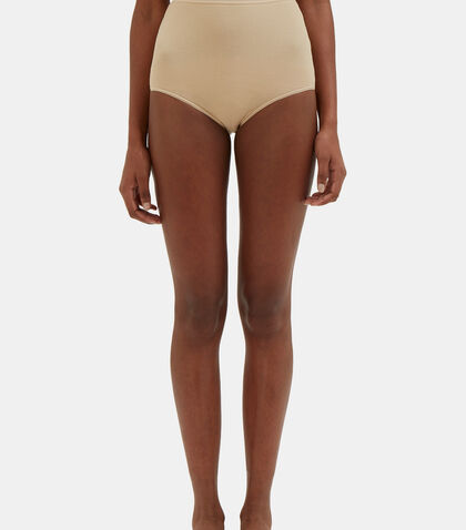 High-Waisted Bell Ribbed Underpants by Baserange