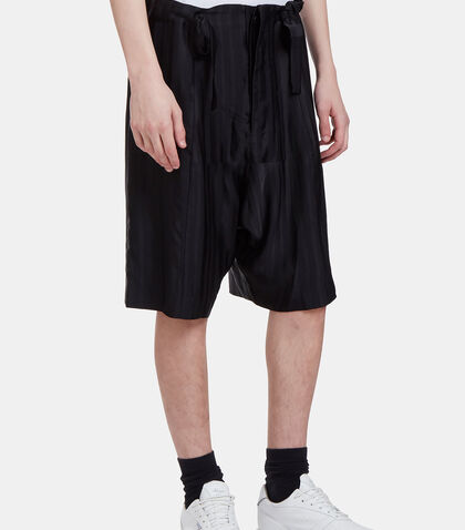 Rude Textured Stripe Shorts by Mohsin