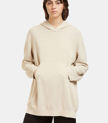 Oversized Bi-Colour Hooded Sweater by Boboutic