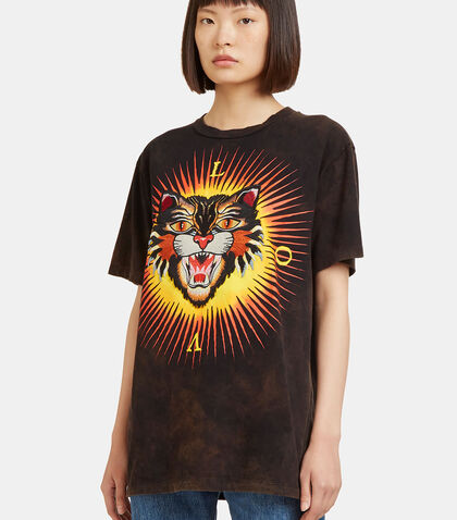 Embroidered Tiger Crew Neck T-Shirt by Gucci