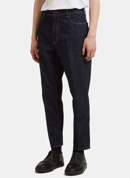 Buy Central Pleat Cropped Jeans by Stella Mccartney men clothes online