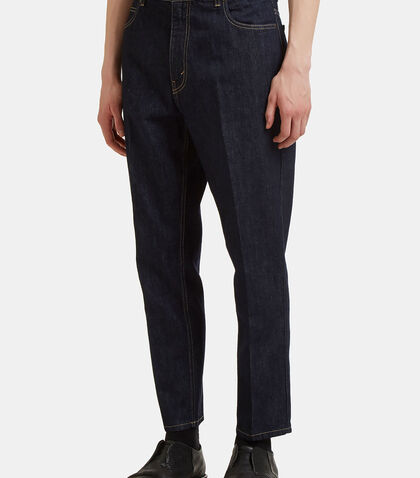 Central Pleat Cropped Jeans by Stella Mccartney