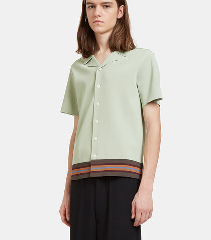 Striped Boxy Polo Shirt by Valentino