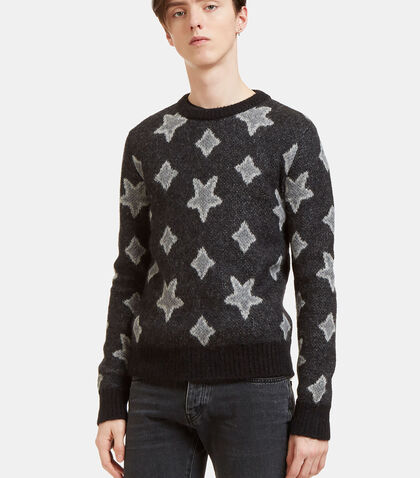 Star Mohair Crew Neck Sweater by Saint Laurent