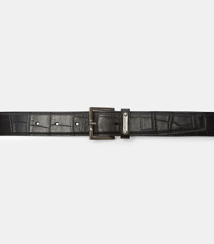 Faux Crocodile Leather Belt by Saint Laurent