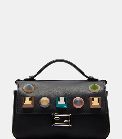 Micro Baguette Geometric Studded Double-Sided Bag by Fendi