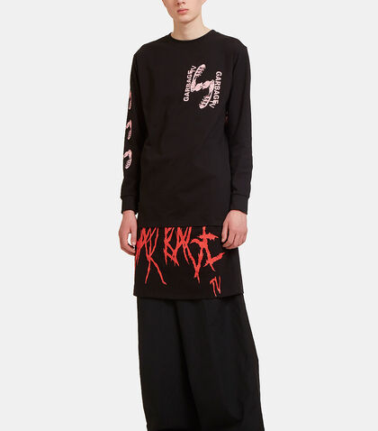 Throw Down Layered Long Sleeved T-Shirt by Garbage TV