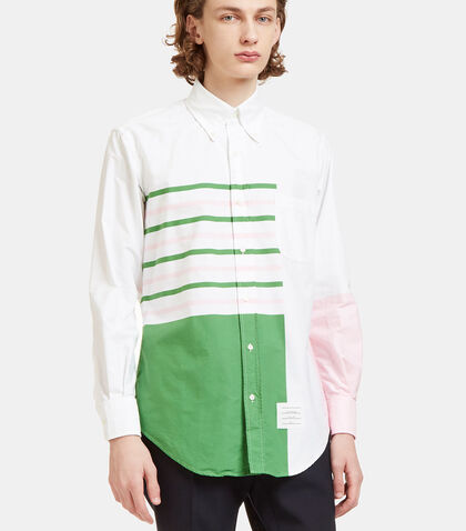 Variegated Stripe Oxford Shirt by Thom Browne
