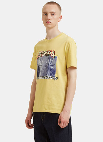 Buy Members and Non-Members Print T-Shirt by Stella Mccartney men clothes online