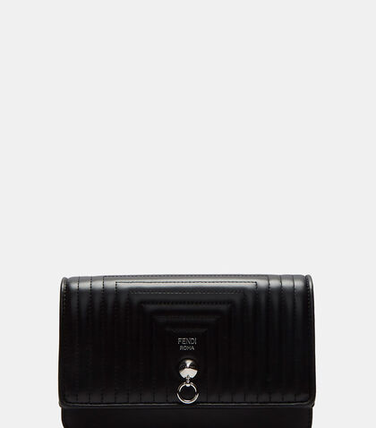 Leather Matelassé Chain Wallet by Fendi