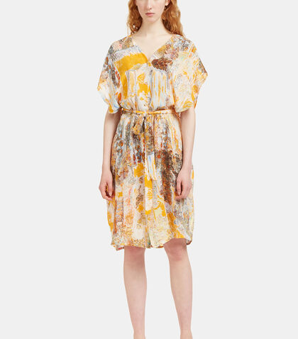 Printed Frilled Dress by Anntian
