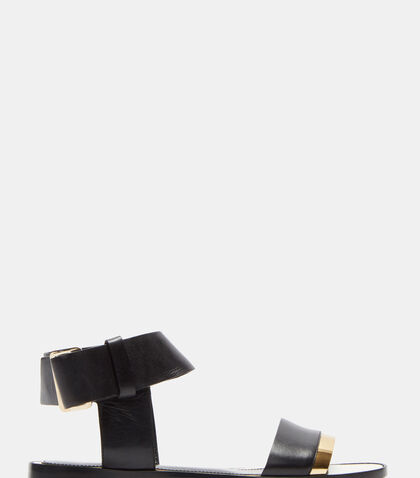 Loop Strapped Mirror Trimmed Sandals by Lanvin
