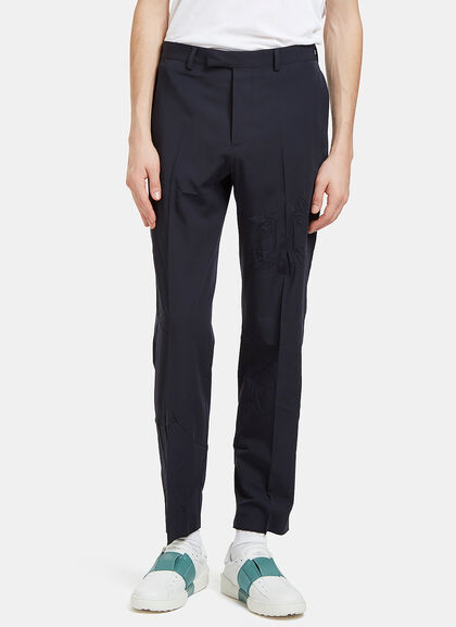 Buy Creased Slim Leg Pants by Valentino men clothes online