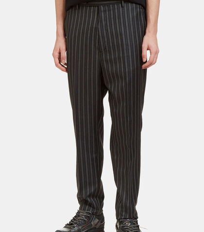 Topstitched Dashed Stripe Slim Leg Pants by Lanvin