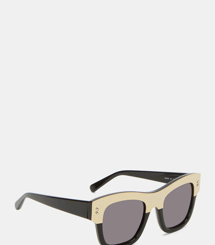 Metallic Top Frame Sunglasses by Stella Mccartney