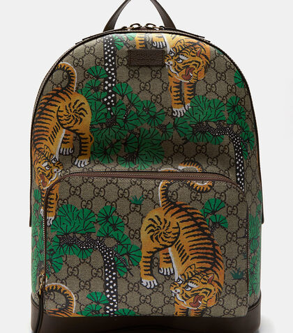 Bengal Tiger Print GG Supreme Backpack by Gucci