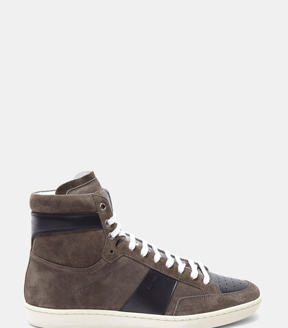 SL/10H High-Top Suede Sneakers by Saint Laurent