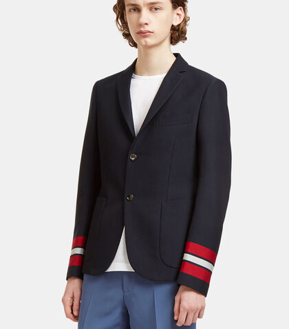 Striped Cuff Cambridge Blazer Jacket by Gucci