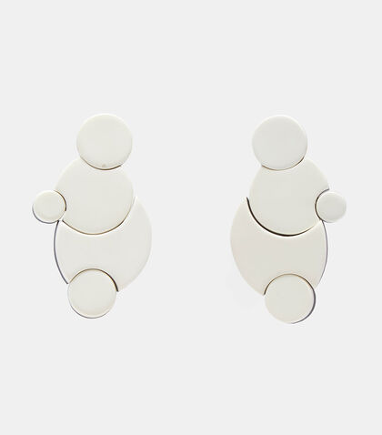 7740 Linked Disc Clip-On Earrings by Monies