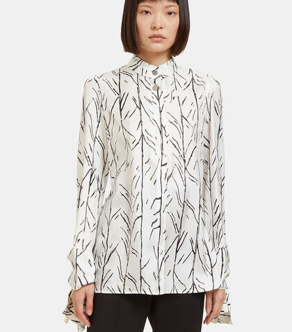 Printed Knot Cuffed Blouse by Proenza Schouler