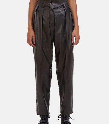 High-Waisted Leather Pants by Drome