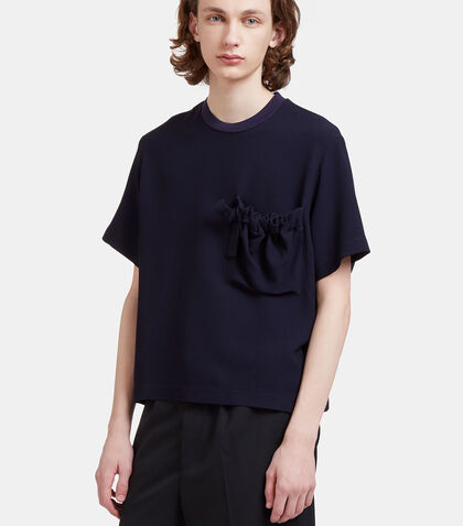 Delila Oversized Ruched Patch Pocket T-Shirt by Mohsin