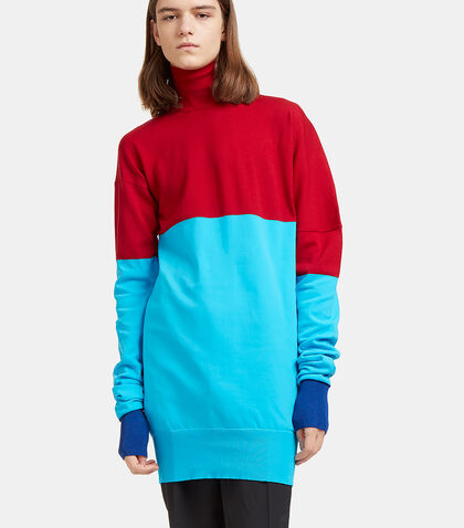 Bi-Colour Ribbed Knit Roll Neck Sweater by J.W. Anderson