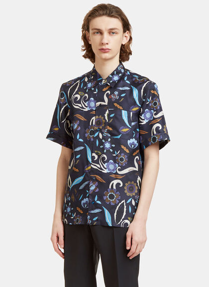 Buy Garden Print Bowling Shirt by Fendi men clothes online