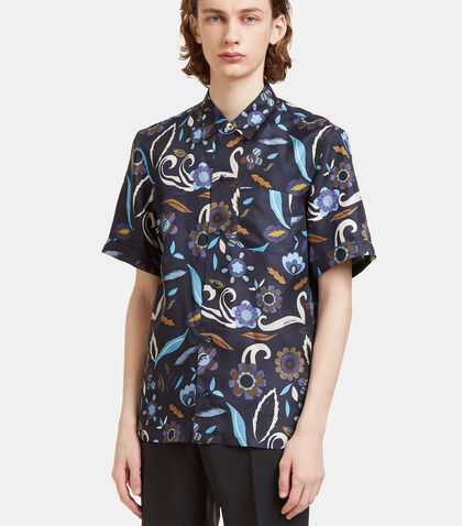Garden Print Bowling Shirt by Fendi