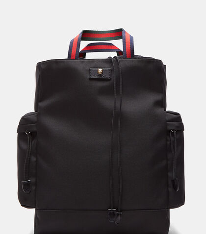 Techno Canvas Drawstring Backpack by Gucci