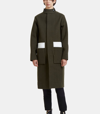 Contrast Vinyl Patch Military Coat by Marni