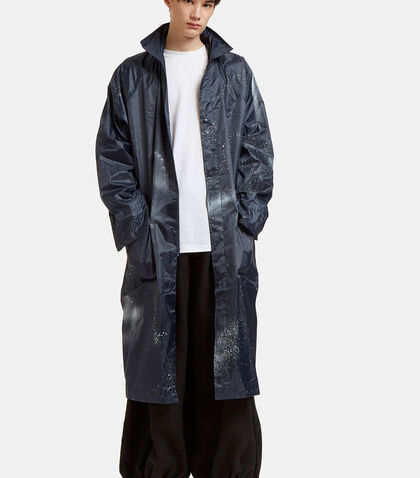 Aura Oversized Spray Painted Raincoat by Serapis