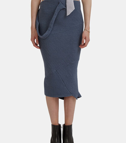 Mid-Length Tube Knit Skirt by Eckhaus Latta