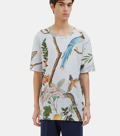 Oversized Printed Linen T-Shirt by Gucci