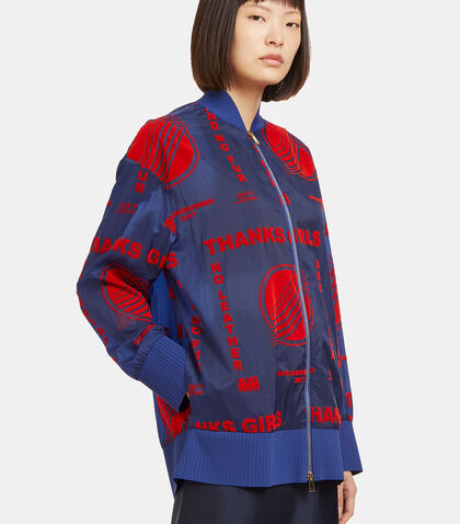 Flocked Print Bomber Jacket by Stella McCartney