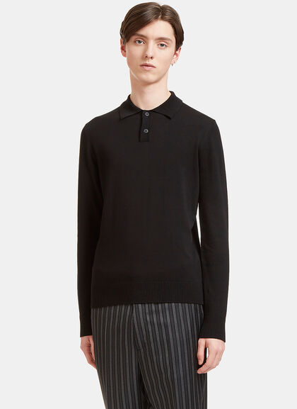 Buy Palm Long Sleeved Polo Sweater by Oamc men clothes online