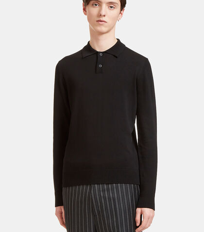 Palm Long Sleeved Polo Sweater by Oamc