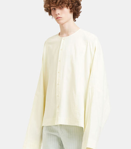 Oversized Batwing Sleeved Shirt by Eckhaus Latta